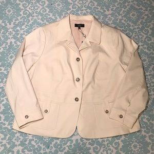 Talbots Women's Casual Jacket Cream Colored